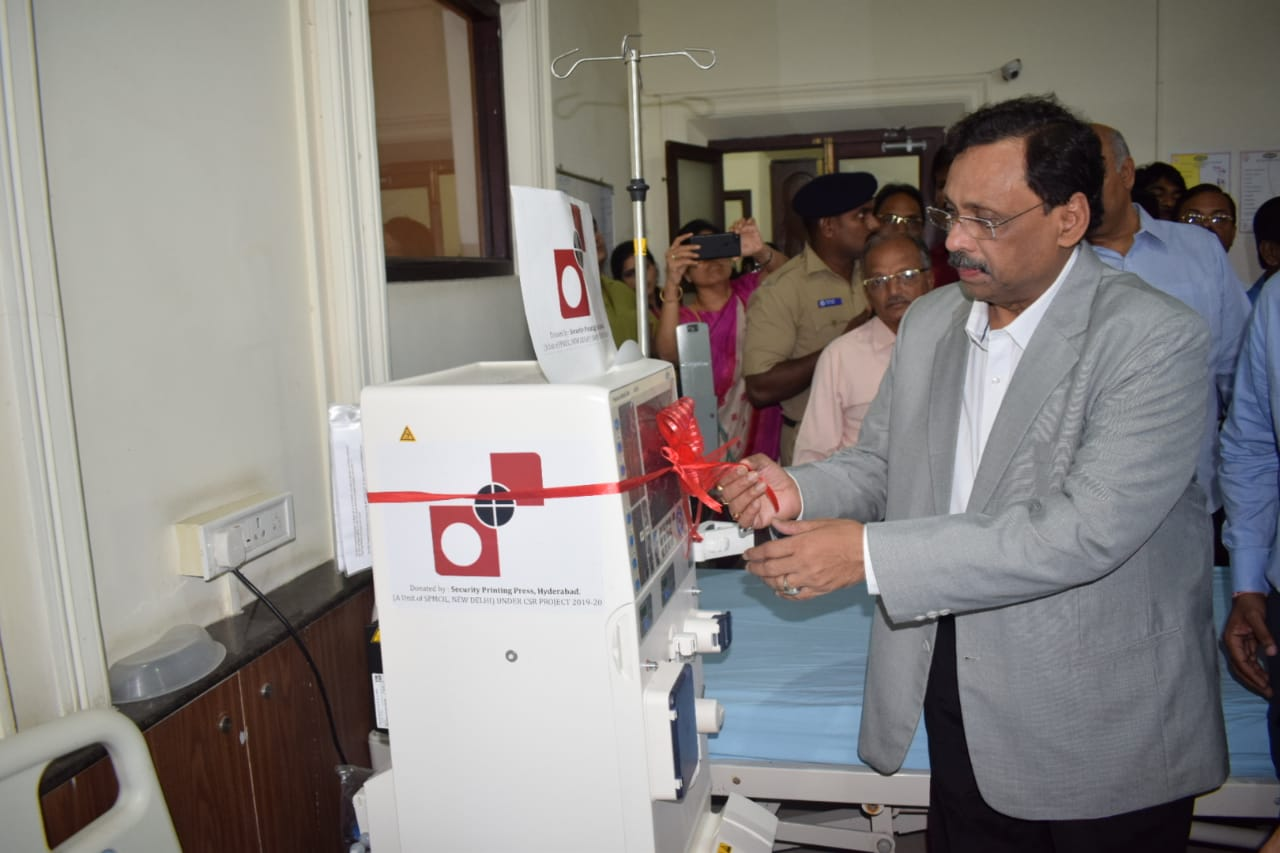 Inauguration of Dialysys machines by DT under CSR - SPPH